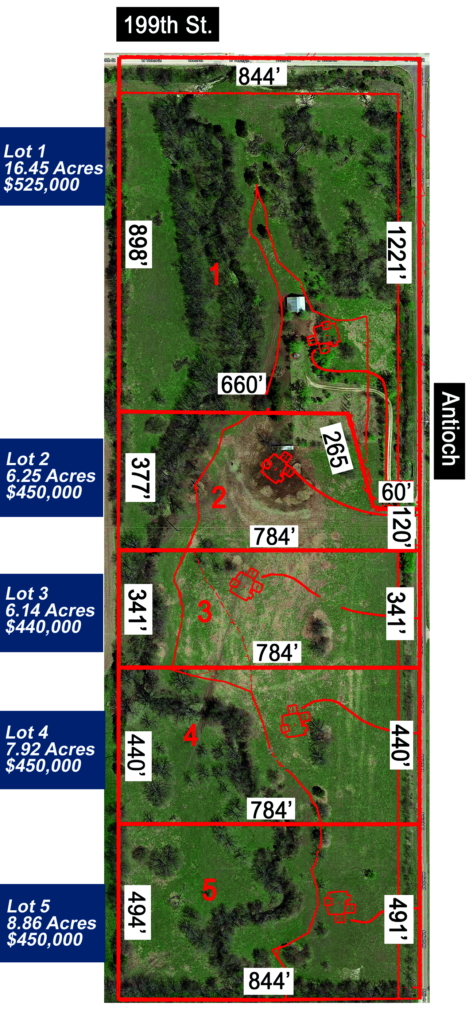 Acreage lots for sale in Jonhson County ks